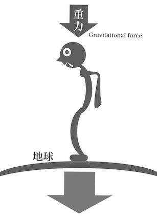 重力の影響